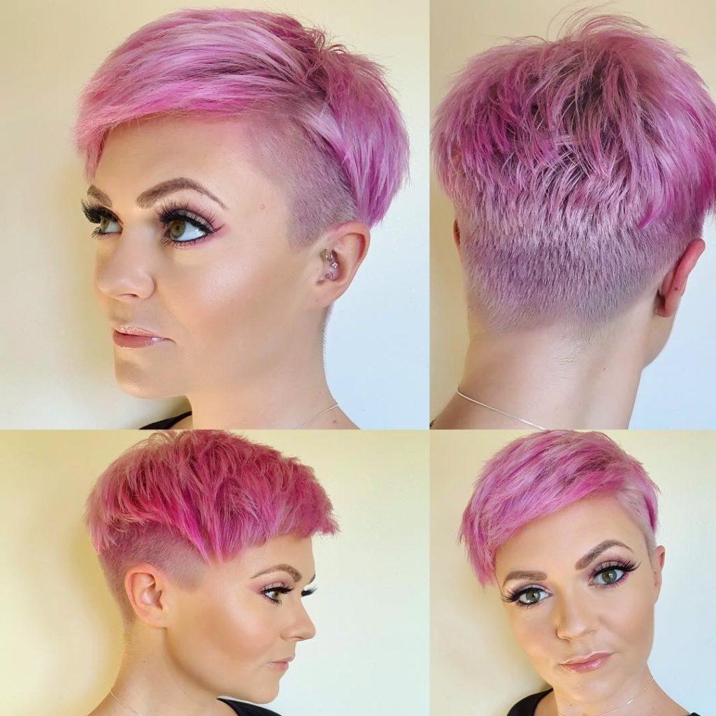 Short Pink Pixie Hair Novocom Top