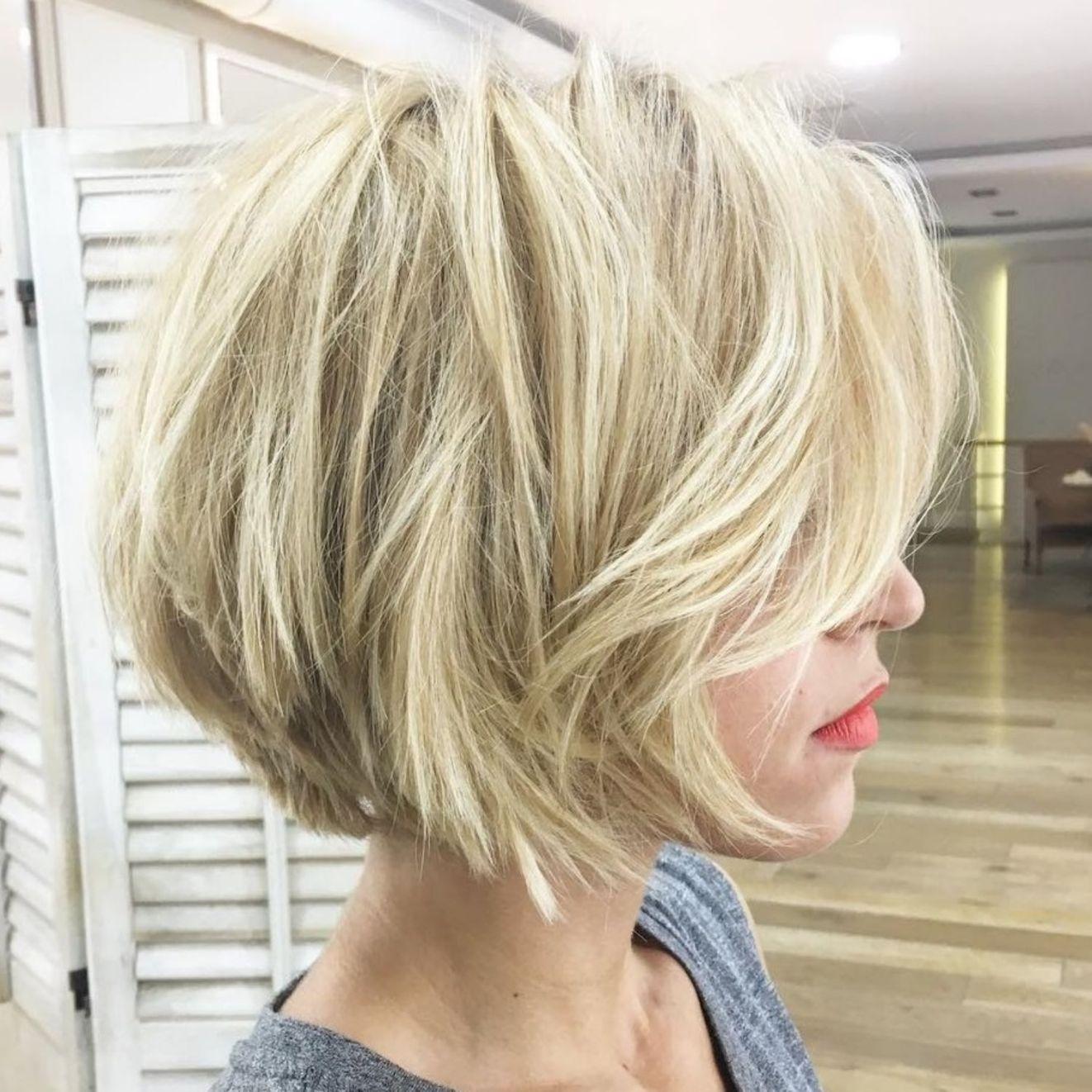 100 Mind Blowing Short Hairstyles For Fine Hair Kapsel Met Laagjes Halfkorte Kapsels Bob Kapsel Grijs Haar