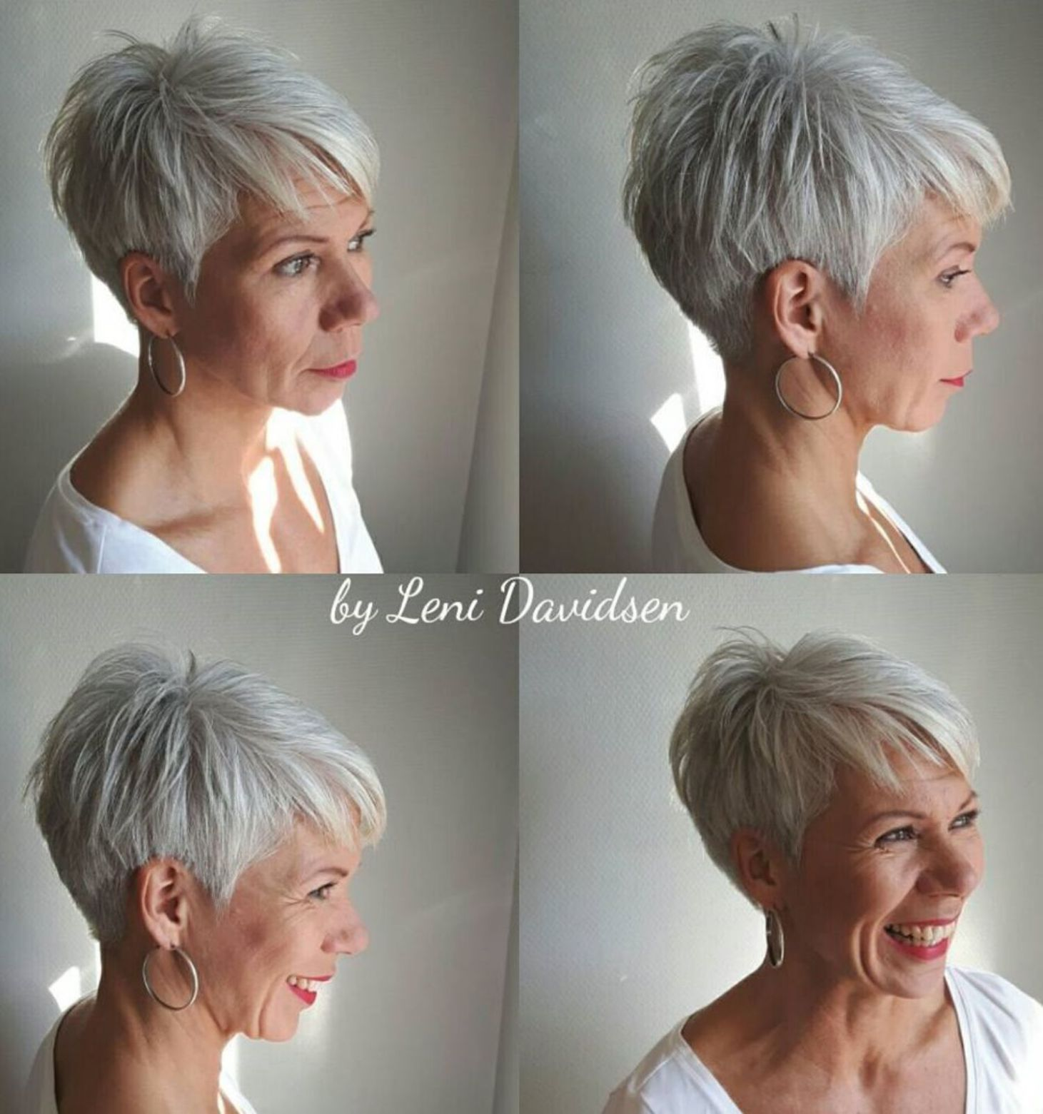 Tapered Silver Pixie For Women Over 60 Gorgeous Gray Hair Chic Short Haircuts Short Grey Hair
