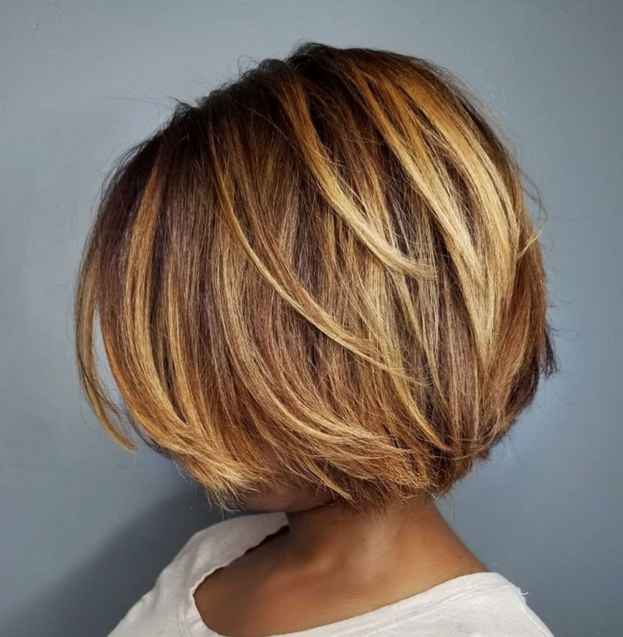 Short Sliced Bob For Black Women In 2020 Kapsels Kort Haar Kapsels Fijn Haar Kapsels
