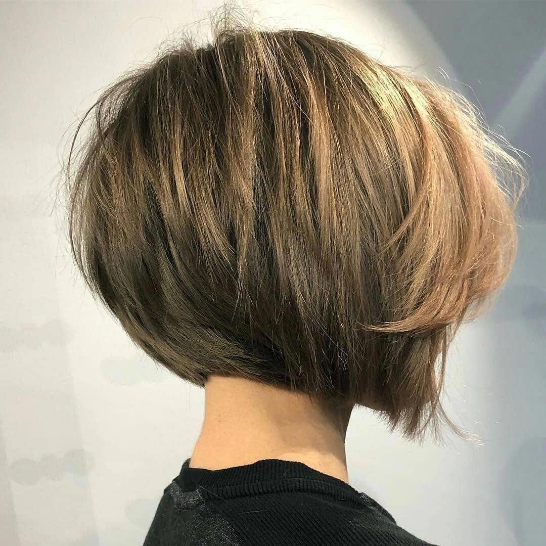 Simple Short Straight Bob Haircut Women Short Hairstyle For Thick Hair Shortbobhaircu In 2020 Thick Hair Styles Short Hairstyles For Thick Hair Straight Bob Haircut