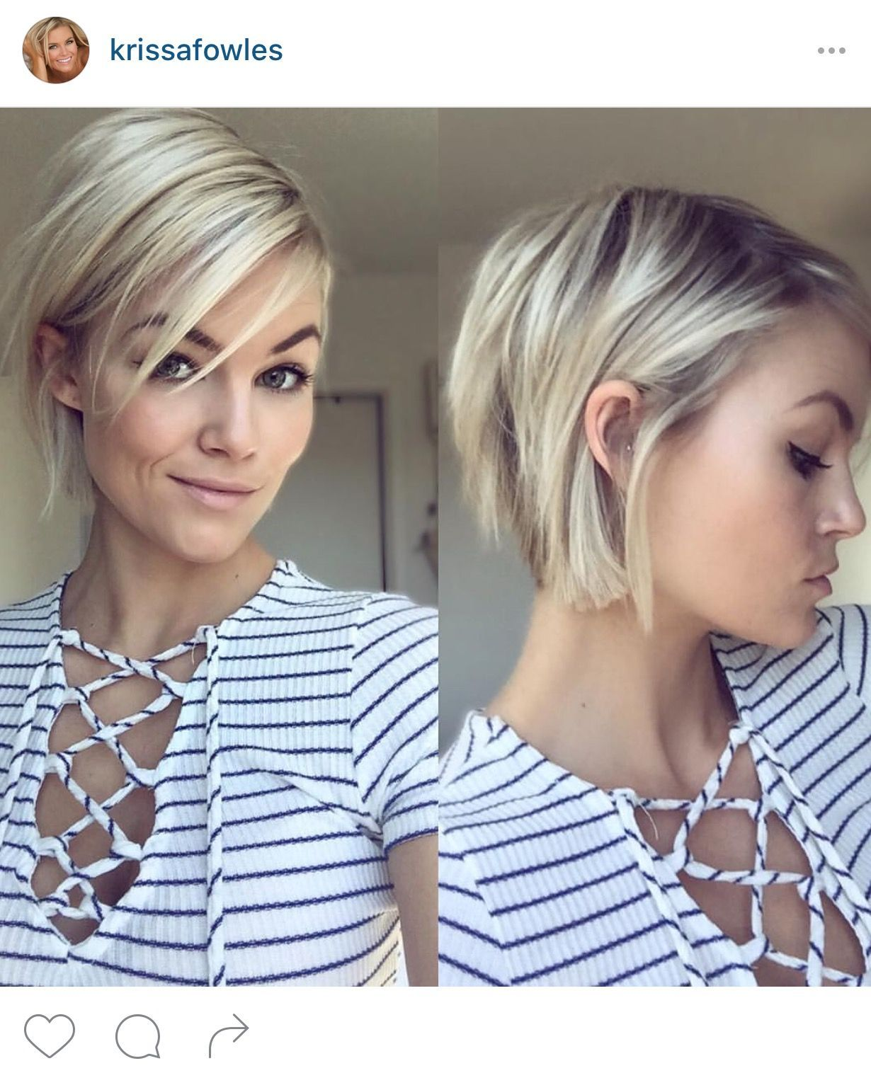 Short Choppy Bob Haircut Hair Pinterest Short Kapsels Kapsels Dun Haar Kort Trendy Kapsel