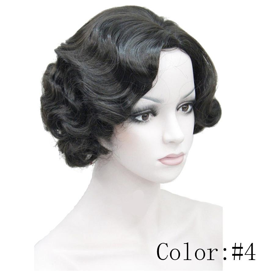 Strongbeauty 1920 S Flapper Kapsels Voor Vrouwen Vinger Wave Pruiken Retro Stijl Korte Synthetische Pruik Hairstyles For Women Hairstyles Stylehairstyles Women Aliexpress