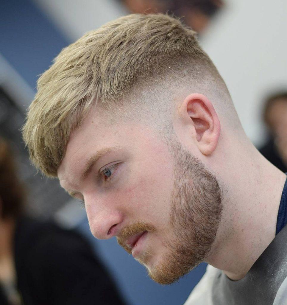Blonde Short Haircut Men Novocom Top