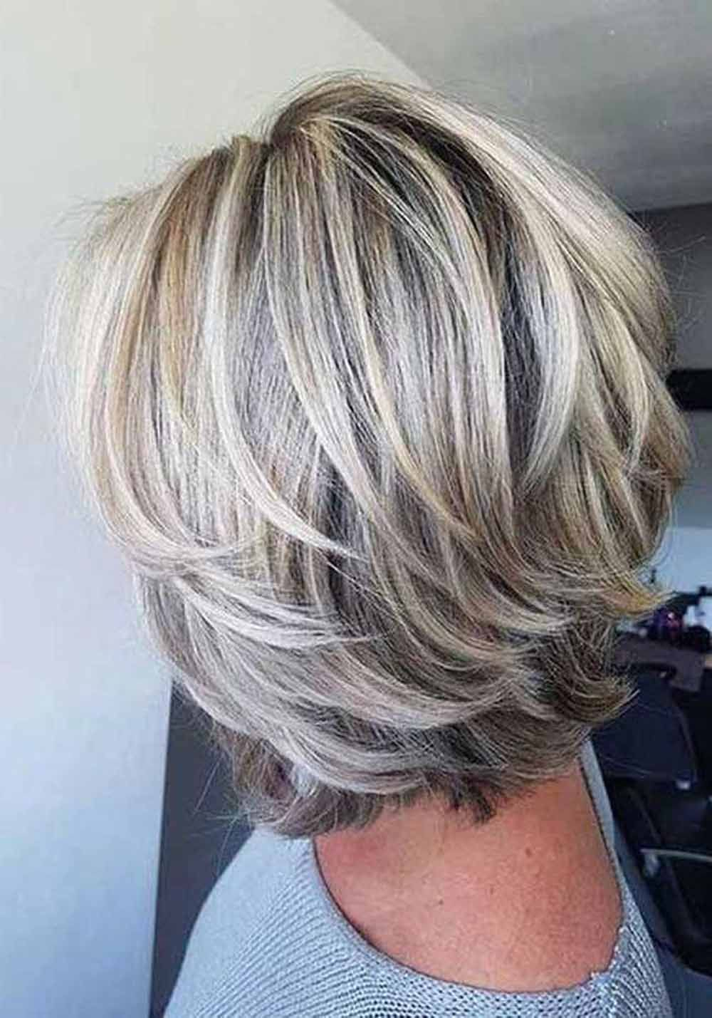 10 Cute Simple Short Layered Hairstyles For The Women Short Layered Hairstyles For Women Are Silver Hair Color Grey Hair Color Gray Hair Highlights