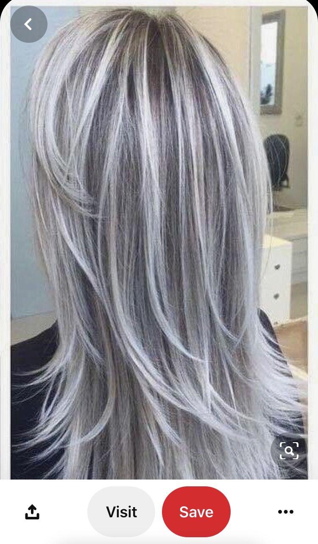 Pin Van Rosemary Op Grey Ombre Hair Grijs Haar Kapsels Haar Kleuren Lang Haar Grijze Haarkleuring