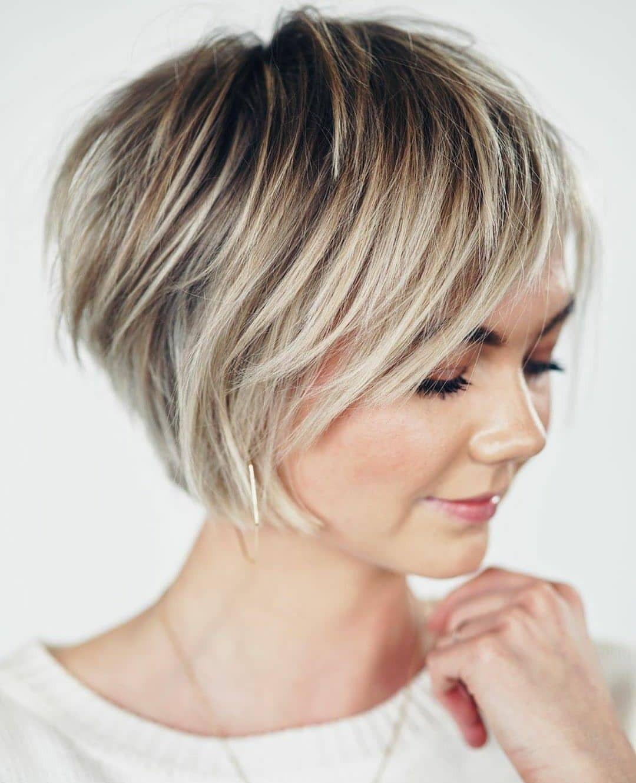 Pin Van Mika Op Hair In 2020 Kapsel Kort Lang Kapsels Kapsel Ideeen Kort Haar