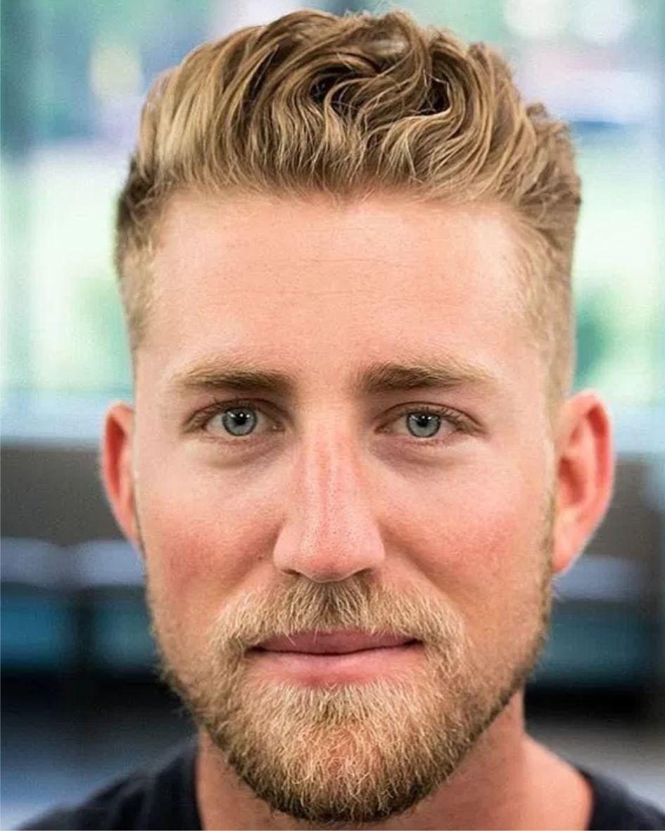 2017 Baard Blond Kort Opgepnipt Zomer Mens Hairstyles Short Haircuts For Men Cool Hairstyles For Men