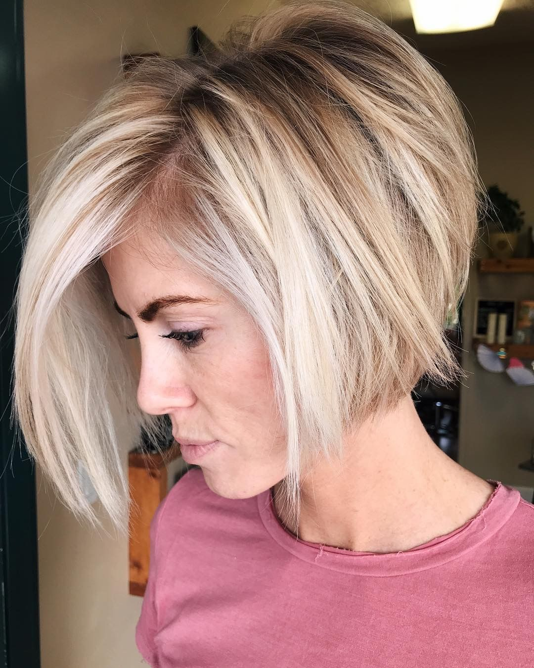 Pin By Henriette Boerman On Beauty Stacked Haircuts Thick Hair Styles Bobs For Thin Hair