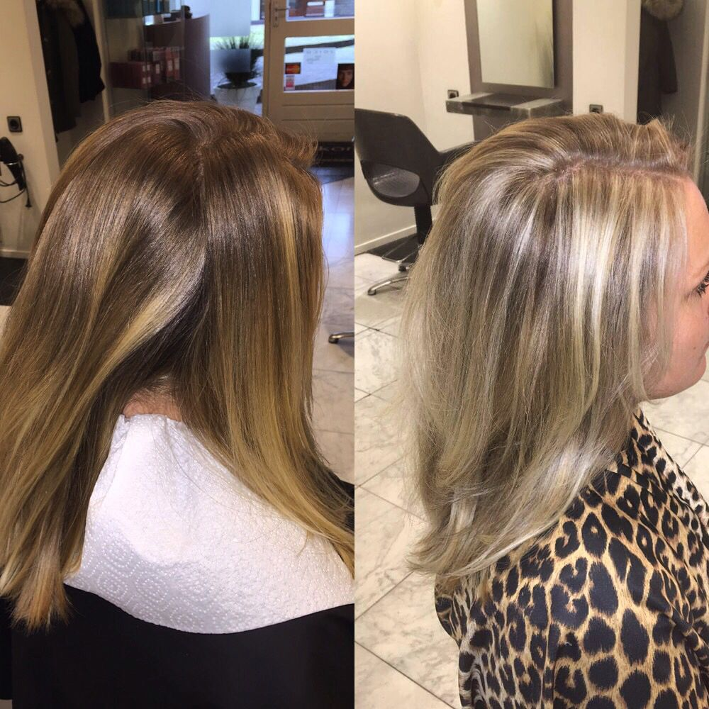 Blonde Coupe Soleil Before And After Haar Haar Highlights Blond