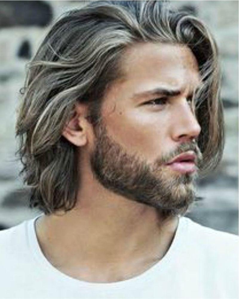 Kapsel Mannen Begin Gotische Periode Half Lang Haar Baard Herenkapsels Mannenkapsels Lang Haar Man