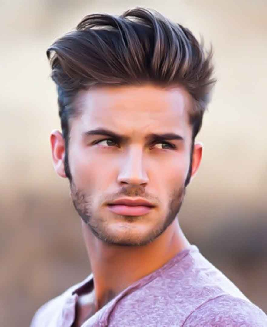 Fryzura Pompadour Mannenkapsels Haarstijl Mannen Mannen Kort Haar