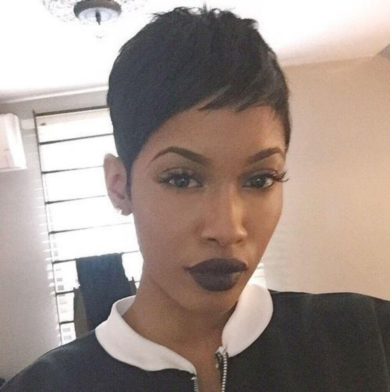 Extra Short Black Pixie Korte Kapsels Afro Kort Zwart Haar Vrouwen Korte Kapsels