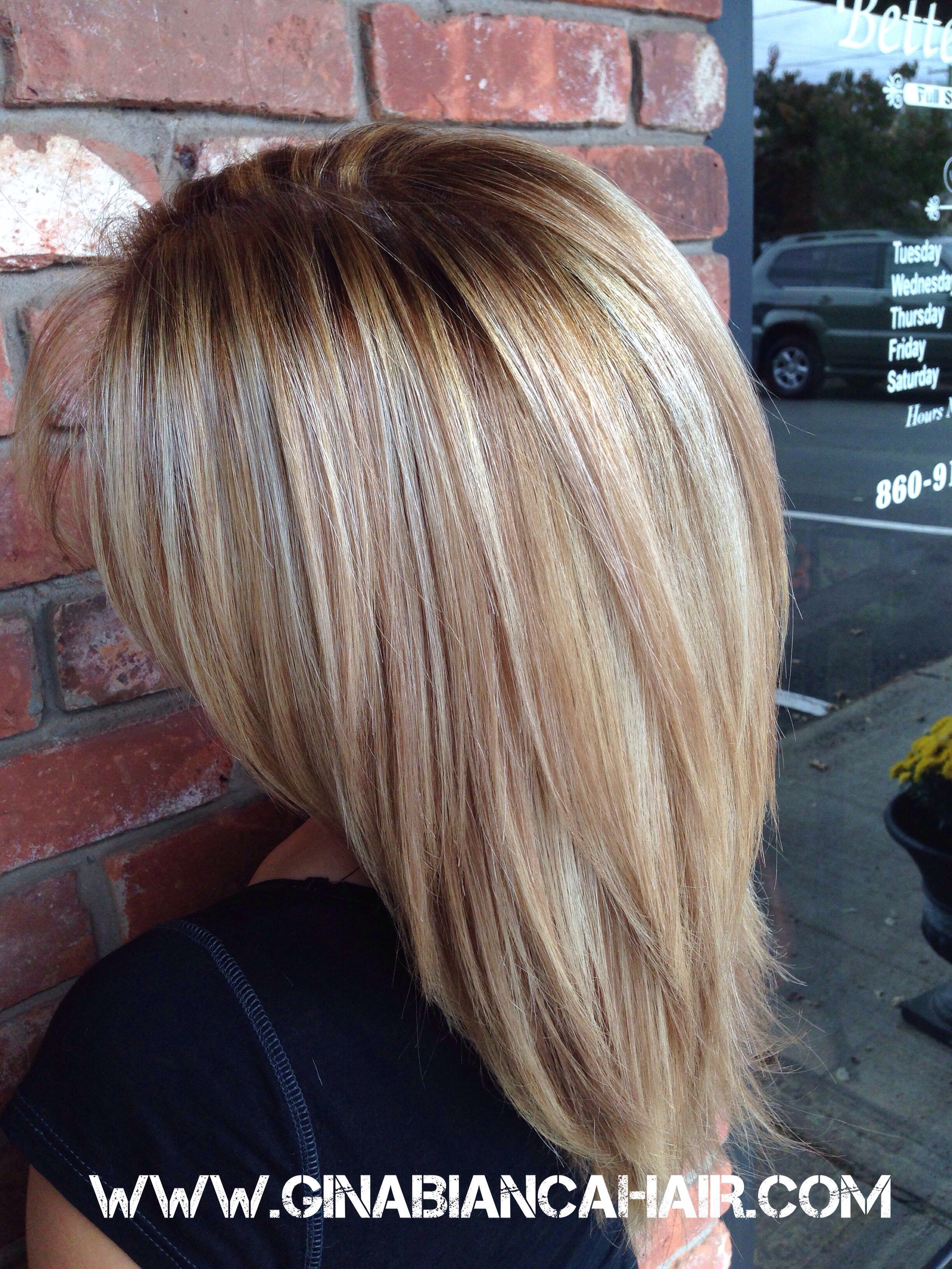 Highlights And Lowlights For Fall Www Ginabiancahair Com Hair Styles Hair Highlights Medium Hair Styles