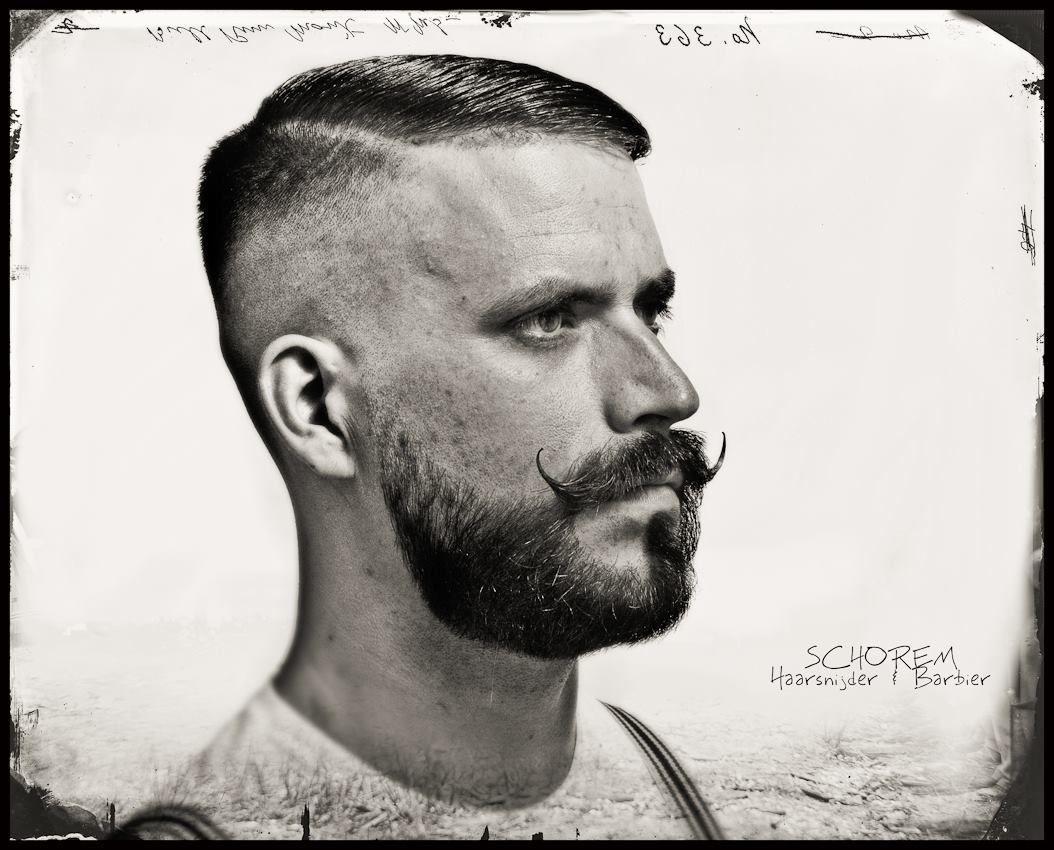 Razor Faded Skin Faded Hard Parted Executive With A Beard Trim Schorem Barbier R Dam Heren Kapsel Kapsels Baard