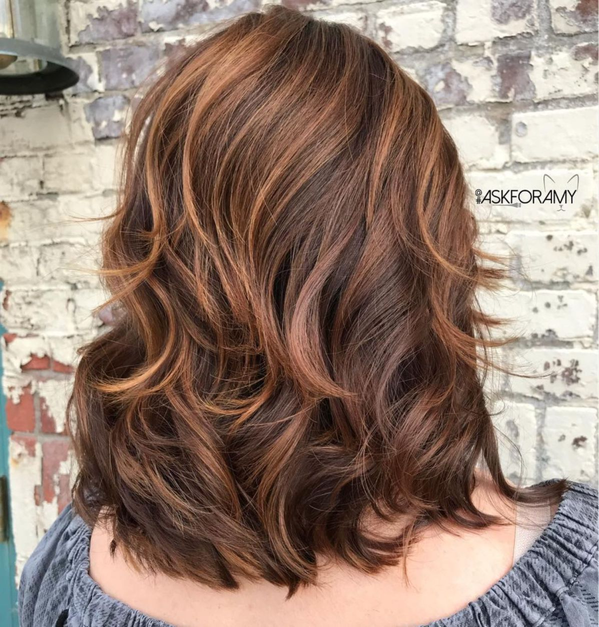 Chocolate Hairstyle With Caramel Highlights Lang Haar In Laagjes Kapsel In Laagjes Kapsels
