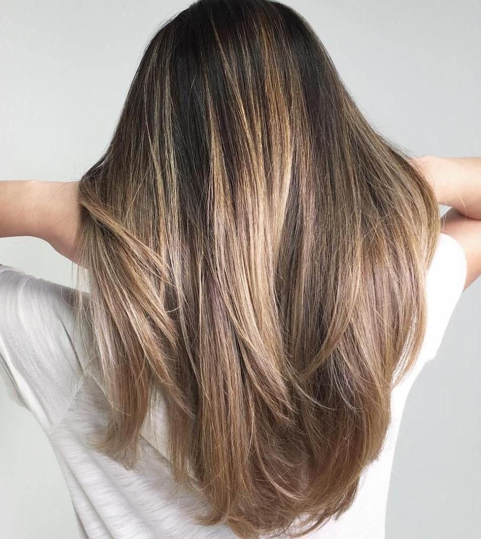 Ash Brown And Blonde Balayage Hair Bruin Stijl Haar Kapsels Haar