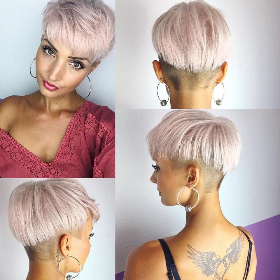 Voor Dames Die Dol Zijn Op Roze 10 Supermooie Korte Kapsels Met Zacht Roze Kleuren Kort Haar Kapsels Kort Kapsel Dik Haar Kapsels