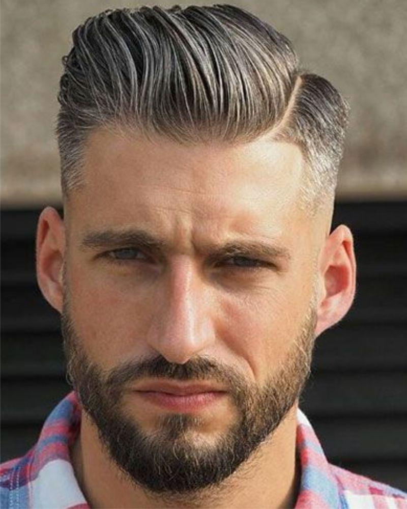 2017 Blond Grijs Kort Scheiding Zomer Herenkapsels Mannenkapsels Herenkapsels 2018