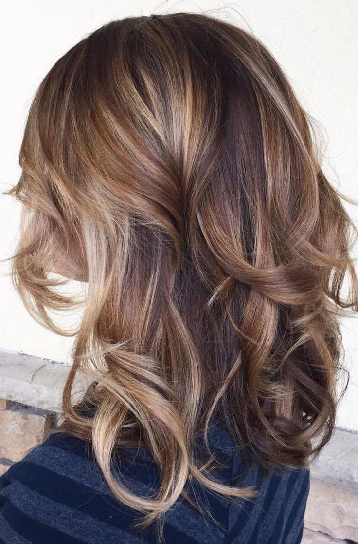 Brown And Caramel Balayage Hair Bruin Haar Met Highlights Haar Met Highlights Haar